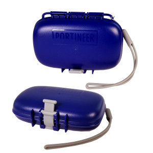 Portineer Carry-Dri EZ travel soap container can sit on side or bottom