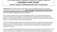 The Rincon Band of Luiseño Indians to Present Check to Escondido's Cruisin' Grand™