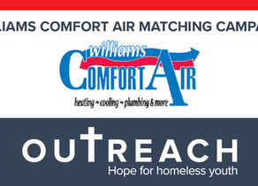 Williams Comfort Air Matching Campaign