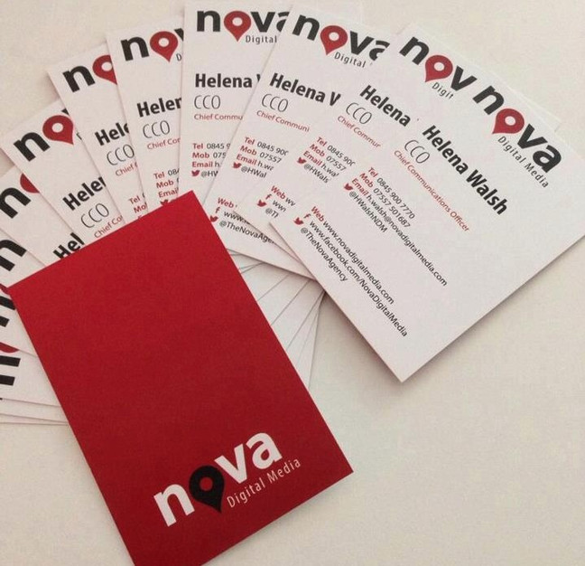 Fantastic new business cards we had printed for Nova Digital Media!