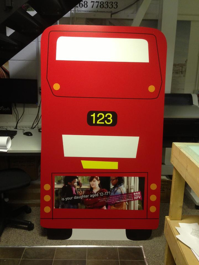 New Bus standee, two more to follow.