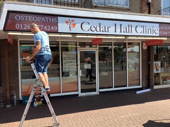 Cedar Hall Clinic signs