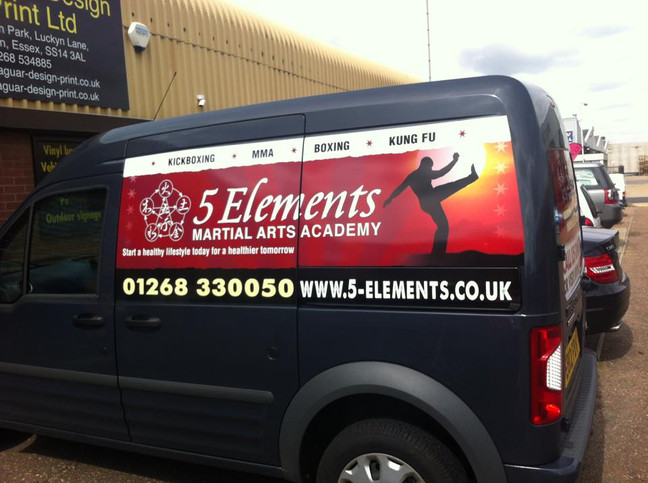 Have a look at our work for 5 Elements martial arts academy!