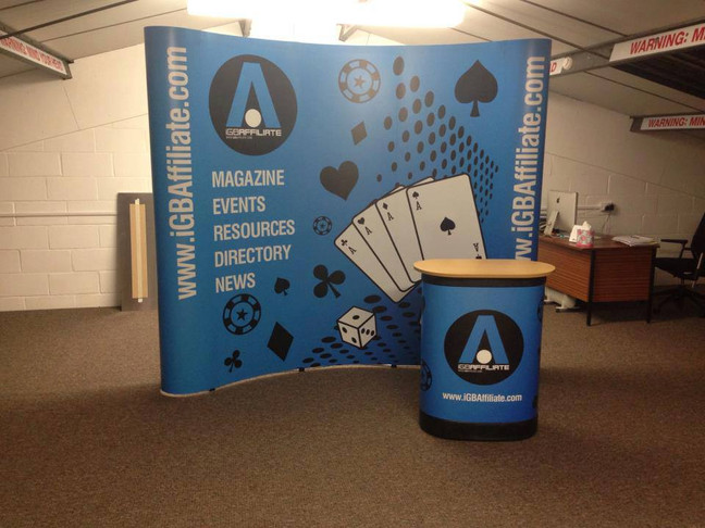 3 x 2 exhibition stand with case wrap completed