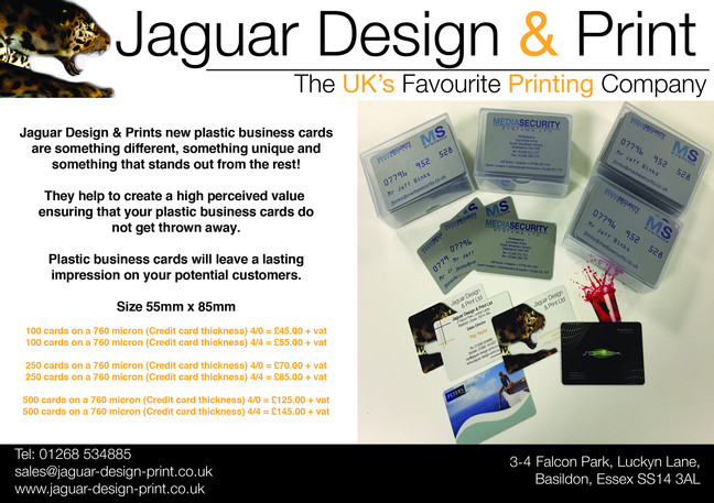 Credit Card material Business Cards