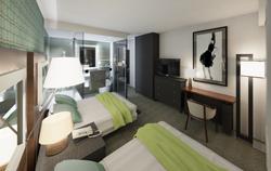 Hotel Guestroom Southwest View (Scheme 2)