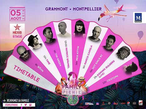 Family Piknik 2018 : timetable Hexis Stage
