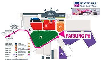 Plan Parking Aéroport Montpellir