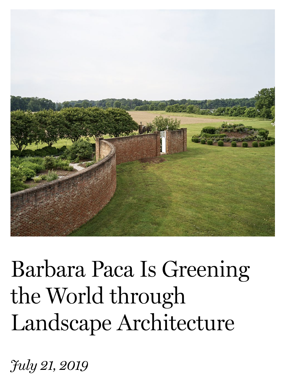 Barbara Paca is Greening the World through Landscape Architecture