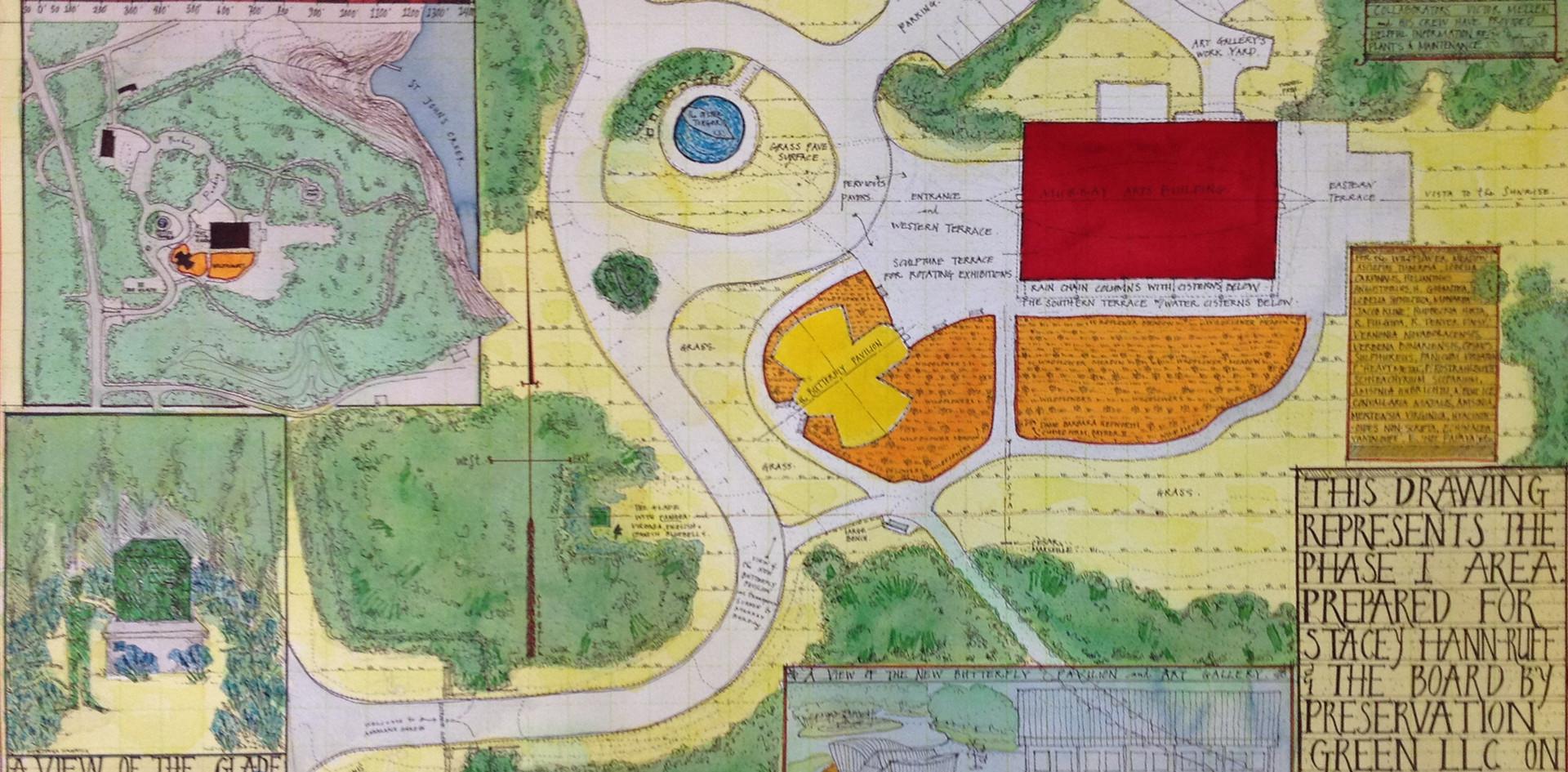 Masterplan for Annmarie Sculpture Garden and Arts Center