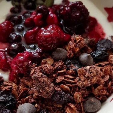 Double Chocolate + Sour Cherry Granola