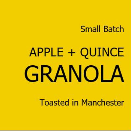 Apple + Quince Granola
