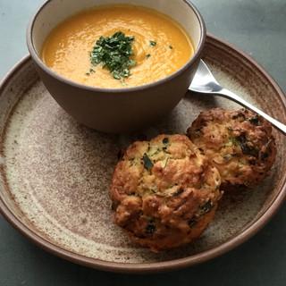 Pumpkin Soup & Muffins.JPG