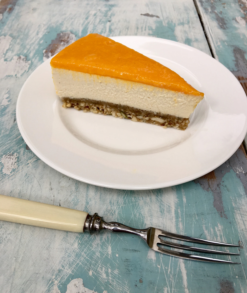 The Complete Retreat Alfonso Mango Cheesecake