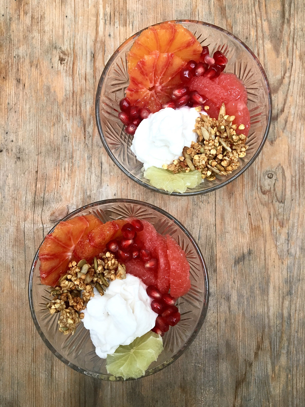 Breakfast Granola and Fruits by The Complete Retreat for Yoga Retreat Lake District