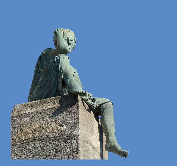 Helvetia resting, Basel, by Bettina Eichin, R Zinggeler