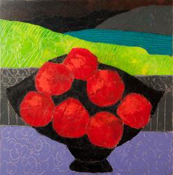 Still life with pomegranates.