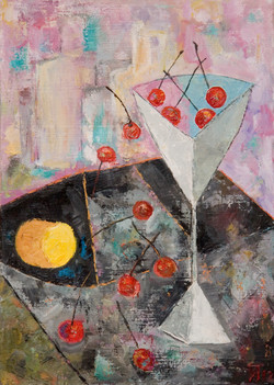 Still-life with cherry. SOLD