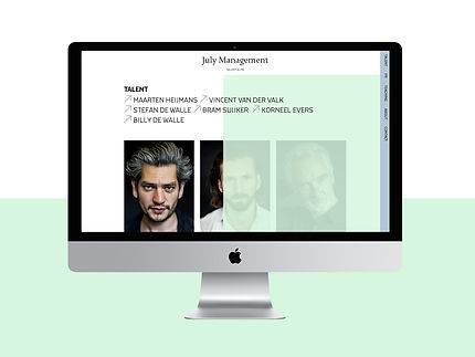 website, July management, webontwerp