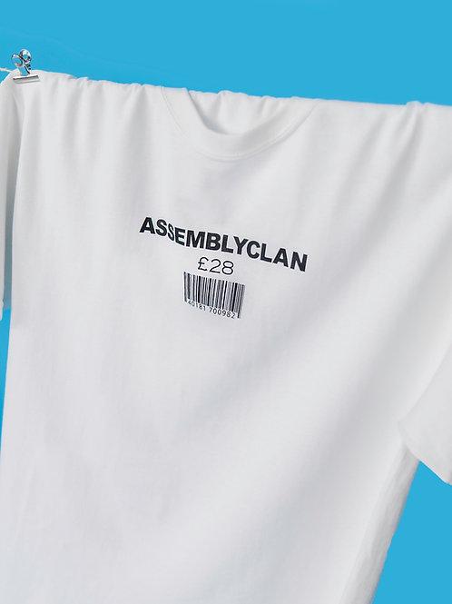 """Barcode oversize """"member"""" white T-shirt"""