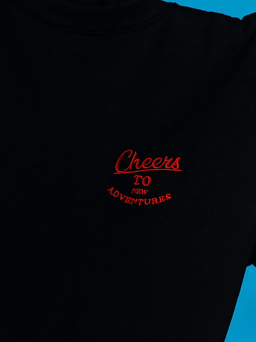 'Good Times' embroidery oversize black T-shirt