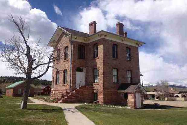 Old Park County Courthouse and Jail is home for the South Park Site Stewards office.  The courthouse was listed on the National register of Historic Places in 1979.
