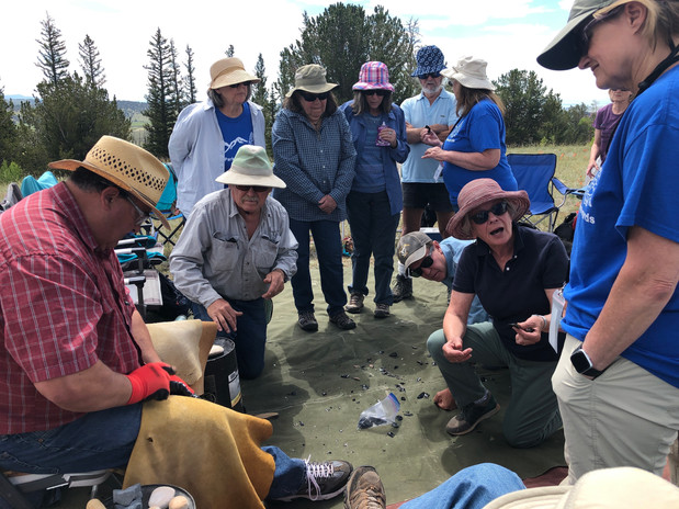 Site Stewards participated in a special flint knapping demonstration in order to further their ability to identify and analyze lithium artifacts in the field