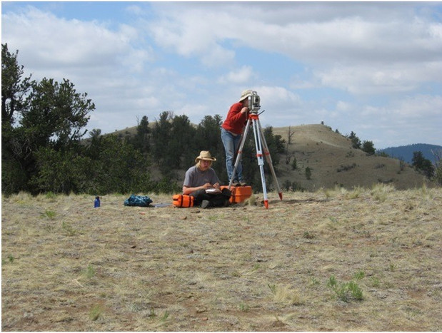 Mapping a Site using 20th century total station technology