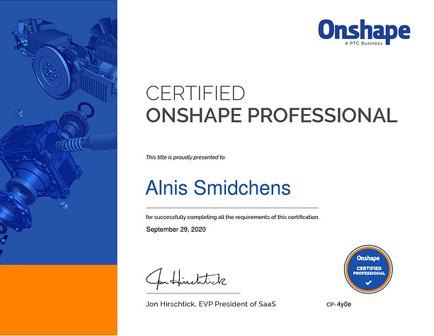 Certified Onshape Professional
