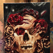 Skull Portrait, Oil Painting by Scott Glazier