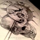 Drawing Clock and Skull