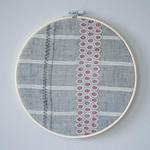 """Honeycomb Delight 10"""" Hoop Art"""