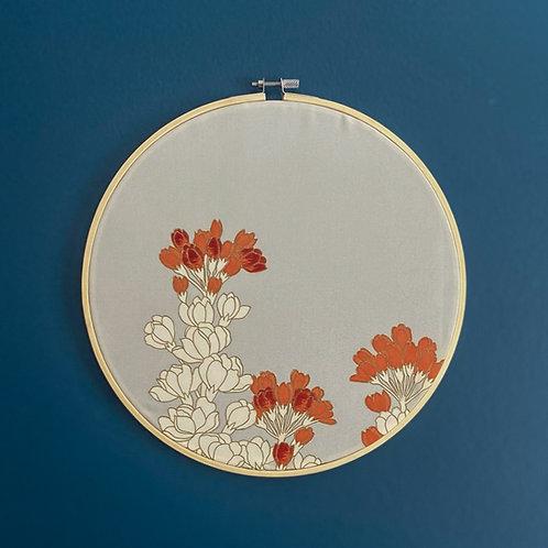 """Blossoming Beauty 10"""" Hoop Art"""