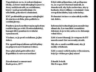 Zdeňa Svěrak nechtěně použiva stejne argumenty jako bolševik ve Ztroskotancich a samozvancich
