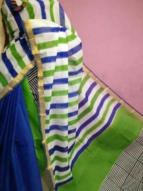 Kasavu Cotton with Block Print