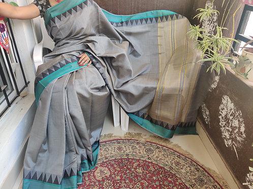 Tussar Silk with Golden Zari Pallu