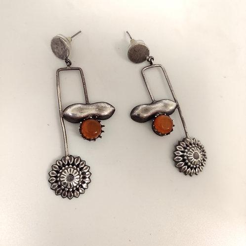 Light weight Oxidised Earrings