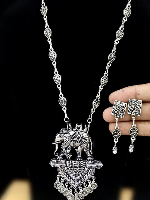 Bappa collection- Silver oxidized set