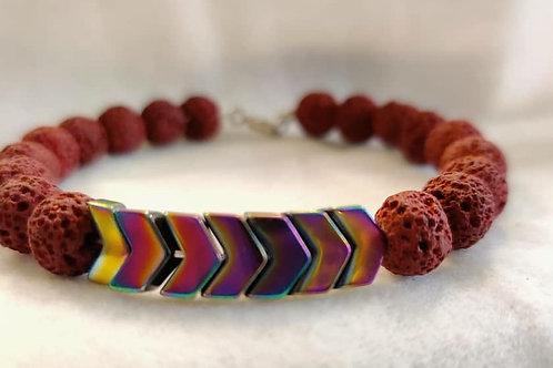 Lavendar Infused Lava Bracelet
