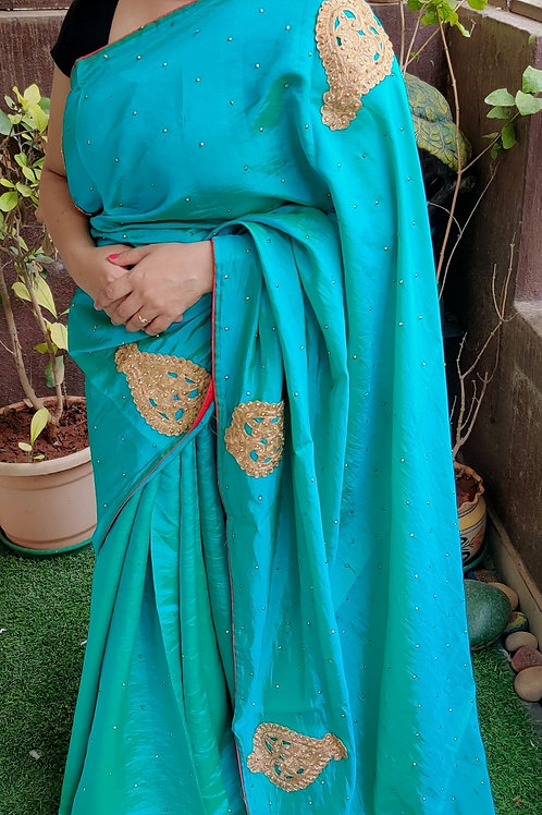 Soft silk saree with sequins