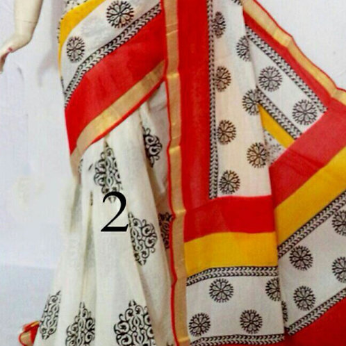 Kerala Cotton with block prints