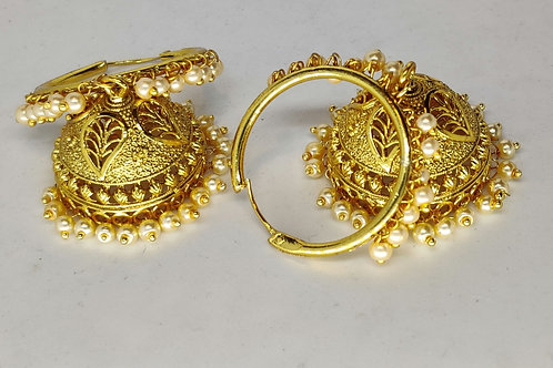 Grand gold jhumkas