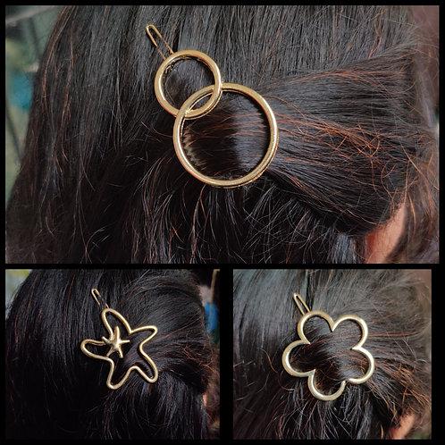 Hair sliders-hoops, flower
