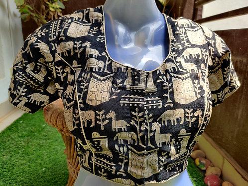 Monochrome Warli readymade blouses