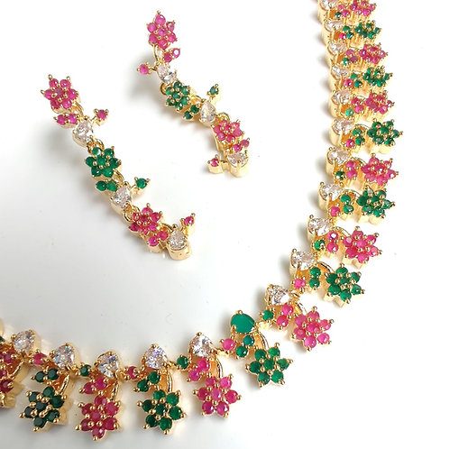 Floral Zircons Set