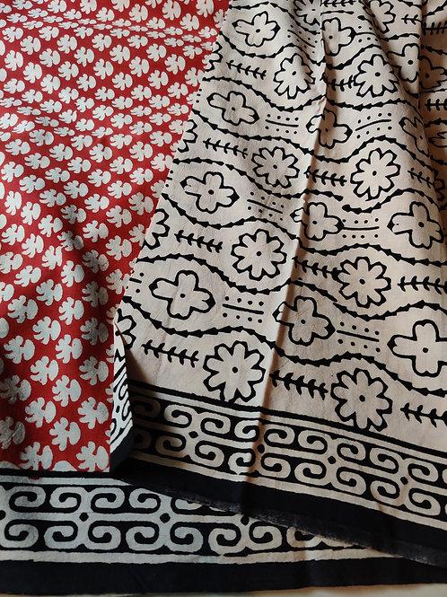 Soft block print salwar set