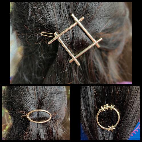 Hair sliders-diamond, oval, starry circle