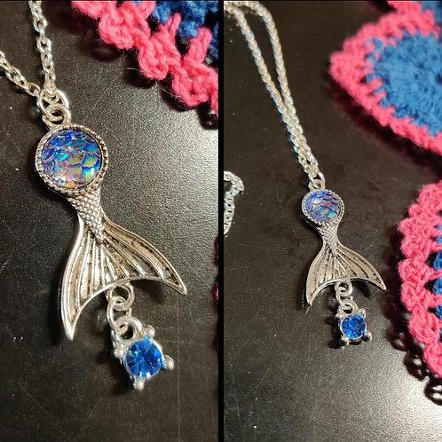 Mermaid Charm chain with stone
