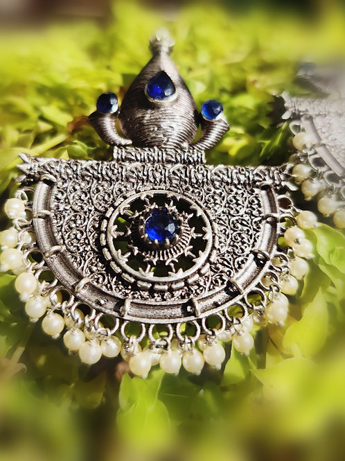 Silver lookalike earrings