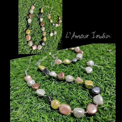 Rare Semiprecious Pearl necklace